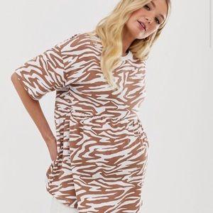 🤰🏼Asos Maternity Animal Print Smock Top